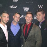 Greg Stevens, Joe Riggs and Jason Hanna at the TurnItUpForChange event at the W Hotels for Marriage Equality 2015
