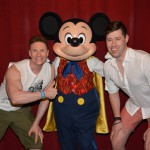 Greg Stevens with Mickey Mouse at Disney World