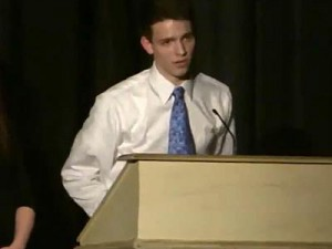 Jacob Rudolph comes out in school speech.