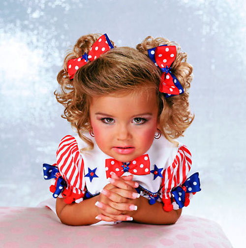 where is the scientific data on the effects of child beauty pageants  high glitz