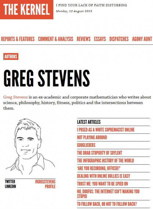 Greg Stevens writes for The Kernel magazine