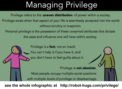 Robot Hugs explanation of privilege