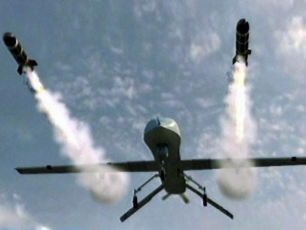 A Predator Drone Firing Missiles