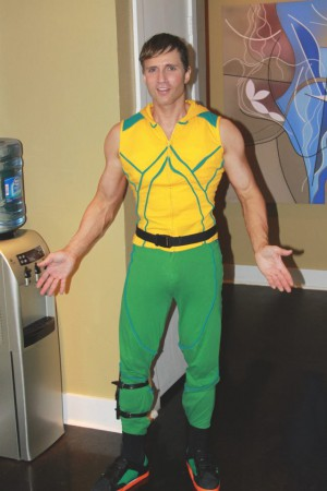 Greg Stevens Aquaman Costume, Halloween 2011