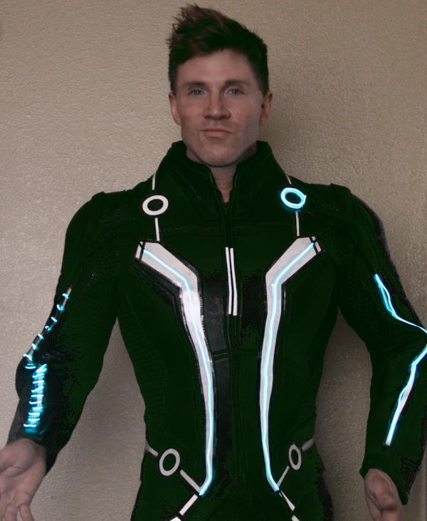 ... Greg-Stevens-Halloween-2012-Illuminated-Tron-Costume  sc 1 st  Greg Stevens & Supergeek Halloween Costume: Tron (illuminated costumes)