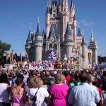 A crowd at the Magic Kingdom at the Walt Disney World Resort