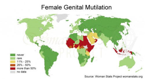 Female genital mutilation map