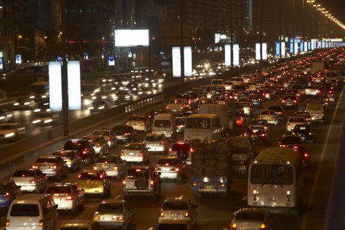 A traffic jam